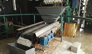 廣西梧州市桂南鈦業有限公司配料皮帶案例